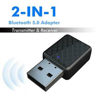Audio Transmitter Receiver Adapter USB 2 in 1 5.0 Bluetooth Wireless Music AUX