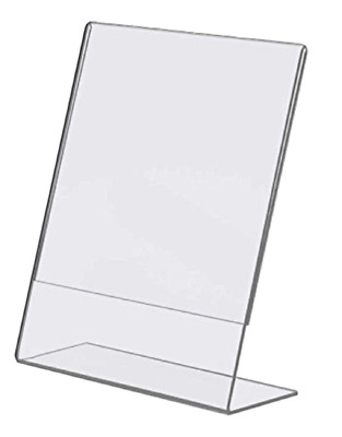 "Acrylic 8.5"" X 11"" Single Slant Back Design Clear Sign Holder Pack 6 - Free ship"