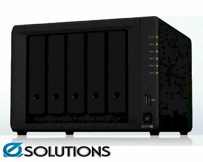"Synology DiskStation DS1019+ 5-Bay 3.5"" Diskless 4xGbE NAS (Tower) Intel Celeron"