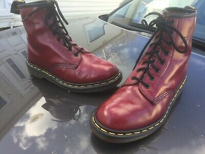 Dr Martens 1460 cherry red leather UK 7 EU 41 Made in England