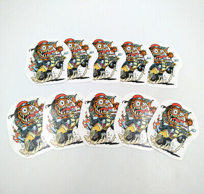 10pcs Rat Fink Decal Big Daddy Motorcycle Ed Roth Hot Rods Laptop Vinyl Stickers