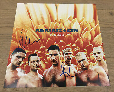 RAMMSTEIN BAND SIGNED 8X10 Photo X3 Ollie Paul Christoph