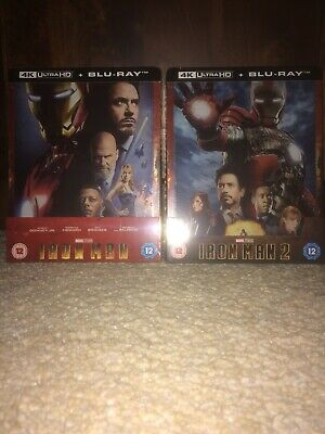 Iron Man 4k UHD Blu Ray Steelbook New & Sealed Zavvi Exclusive SOLD OUT