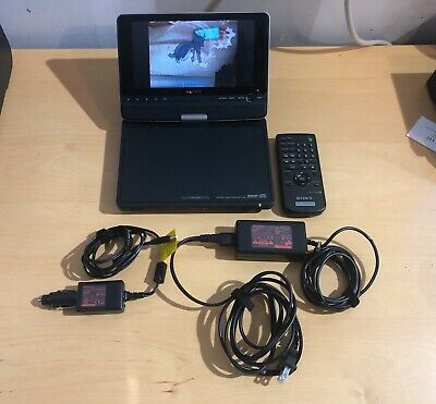 "Sony 8"" Portable CD/DVD Player Model DVP-FX810 with Remote & 2 chargers B1"