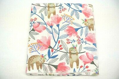 Baby Blanket Sloths Flowers Can Be Personalized 36x40