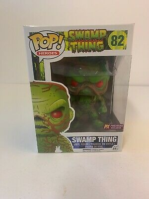 Funko Pop Heroes; Swamp Thing #82 Px Previews Exclusive, Stain On Box