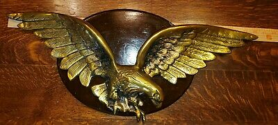 Large 26 Inch Wall Mount Brass American Eagle- Colonial American Revival