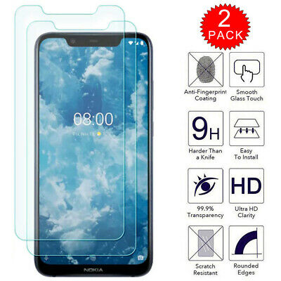 For Nokia 8.1 - Premium Clear HD Tempered Glass Film Screen Protector [2-Pack]