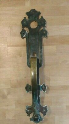 Vintage 1913 Sargent & Co Solid Brass Entry Bungalow Door Pull Handle