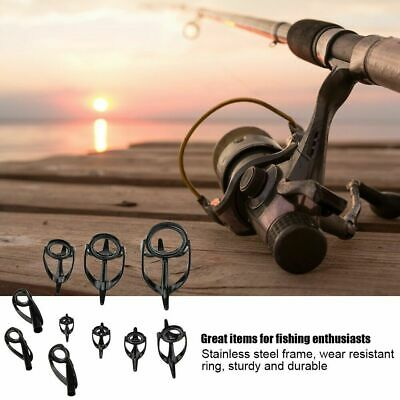 Mixed Size Fishing Top Rings Rod Pole Repair Kit Line Guides Eyes Sets Durable