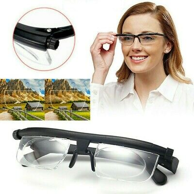 Adjustable Strength Lens Eyewear Glasses Variable Clear Vision Sign Reading Tool