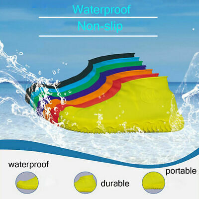 Silicone Overshoes Rain Waterproof Shoe Covers Boot Cover Protector Recyclable M