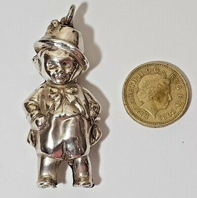 VINTAGE STERLING SILVER BABY'S RATTLE Collins & Co CHESTER 1952