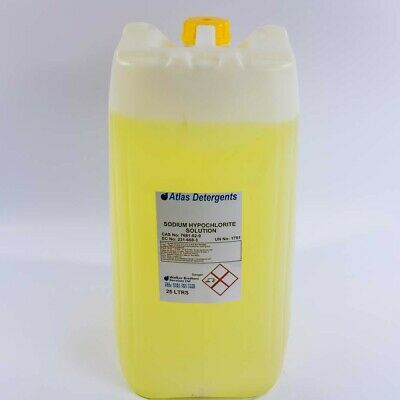 Sodium Hypochlorite 25 Litres Patio Cleaner Swimming Pool Clorine 15%
