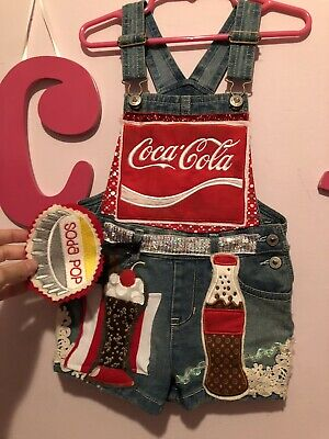Coca Cola Custom Handmade Overalls 4t Girls Boutique Coke Outfit Costume