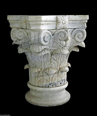 Capital Marbre Blanc Antique Classic Vintage White Marble Classic Capital
