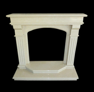 Rahmen Kamin Kamin in Weißer Marmor Klassisch Old Fireplace Marble Frame Top