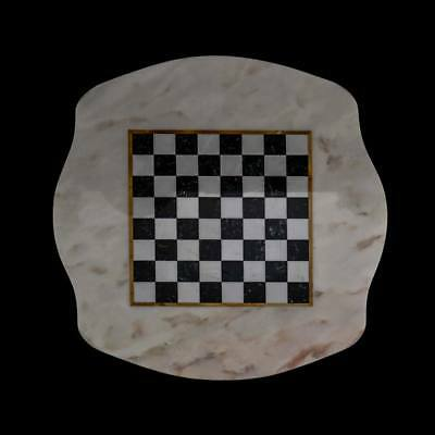 Checkerboard Classic Table in Marble Italian Marble Table Chess Board 60x60cm