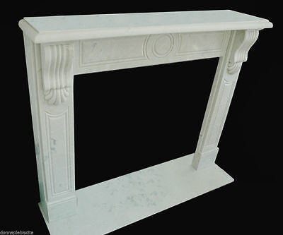 Cheminée Marbre Blanc Style Empire Marble Cheminée Handmade Vintage Empire Style