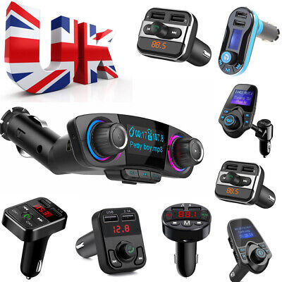 Bluetooth Car Kit Music FM Transmitter USB AUX Charger Radio Adapter MP3 Player
