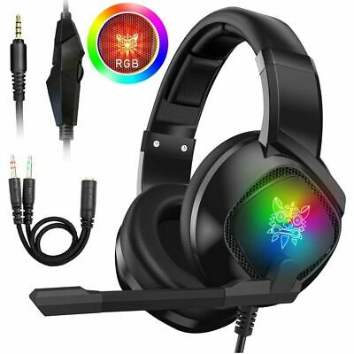 3.5mm Gaming Stereo Headset MIC LED Headphone Fr Xbox one/PS4/PC/Nintendo Switch