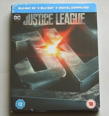 Justice League - Uk Hmv Exclusive 3D + 2D Blu-Ray Steelbook * New - Wonder Woman