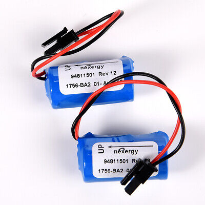 2pcs 1200mAh BR2/3A-AB PLC Lithium Battery For 1756-BA2 HHT Series