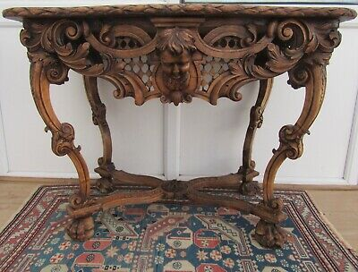 An Imposing Antique Country House French Provincial Fruitwood Console Side Table