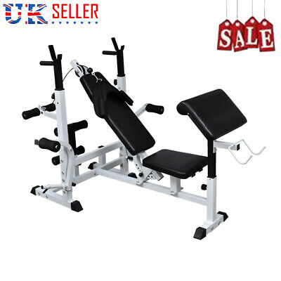 Sport Fitness Weights Bench Multi Gym Dumbell Workout Leg Bar Lifting Bench