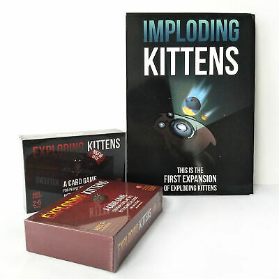 Exploding Kittens & NSFW Edition Adults Kids Family Party Card Game Toy