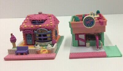 Vintage Polly Pocket Bluebird Ice Cream Parlor Shop Burger Drive Thur Restaurant