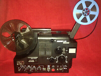 SUPER 8mm  2 TRACK MAG/OPT SOUND MOVIE PROJECTOR 150w LAMP REVUE LUX SERVICED A1