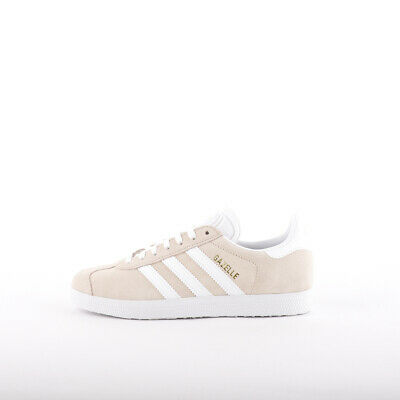 Womens Adidas Originals Gazelle Linen/White Trainers (CMF5) RRP £74.99