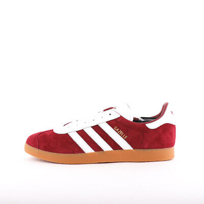 Mens Adidas Originals Gazelle Burgundy/White/Gum Trainers (CMF5) RRP £74.99