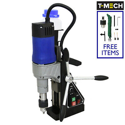 Drill Magnetic Drill Press 230V Mag Annular Cutter Adapter Chuck & Key 1200W