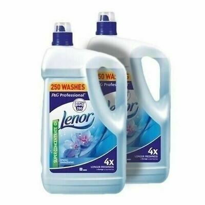 Lenor Fabric Conditioner Spring Awakening 2 x 5L 500 washes FREE DELIVERY