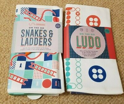 Marks and Spencer On The Go Ludo & Snakes And Ladders Game BRAND NEW 2 Games