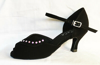Ladies Black Ballroom, Latin, Jive, Salsa Dance Shoes - UK Sizes 3 - 8.5