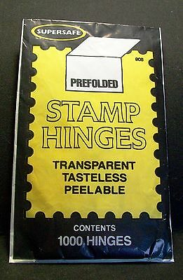 Supersafe Prefolded Stamp 2000 Hinges  (Two packages)