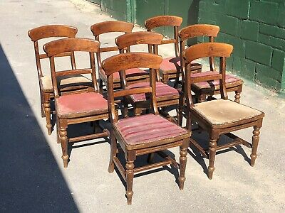 Set of 8 Restaurant Dining Chairs  (Pub / Bar / Cafe / Bistro Chairs)