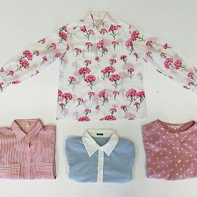 100 x WOMENS PATTERNED SHIRTS  - GRADE A - BULK VINTAGE WHOLESALE