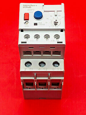 Sprecher Schuh CEP7-EEED Overload Relay 5.4 to 27 Amps Auto/Manual Reset