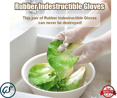 Rubber Indestructible Gloves White