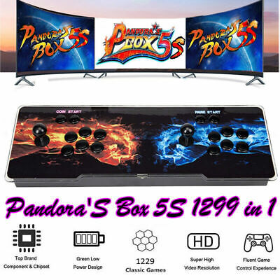 US 1299 Game in 1 Pandora's Box 5S Multiplayer Arcade Double Gamepad HDMI LED LM