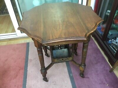 Victorian Oak Carved Side Table