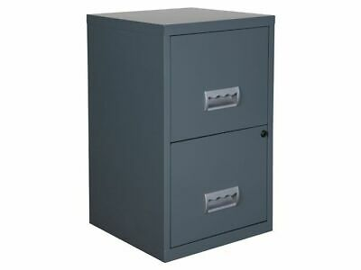 2 Drawer Filing Cabinet Pierre Henry A4 Steel Lockable - Granite - QUALITY