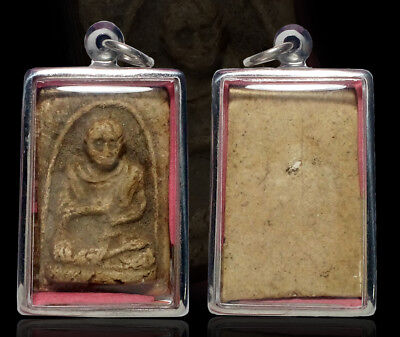 Thai Buddha Amulet Old Phra Somdej Toh Case stainless steel Pendant Luck Protect