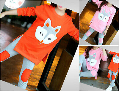 Girls Autumn Set School 2pcs Top Leggings Casual Outfit Long Sleeve Age 2-8 Yrs