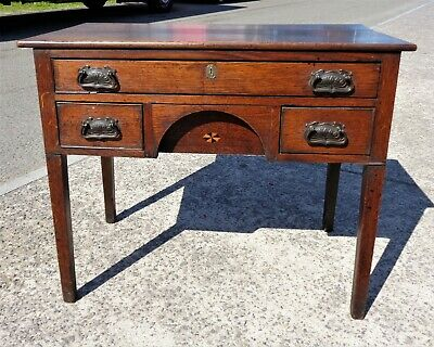 Antique Period Country Oak Lowboy With Secret Compartment    Delivery Available