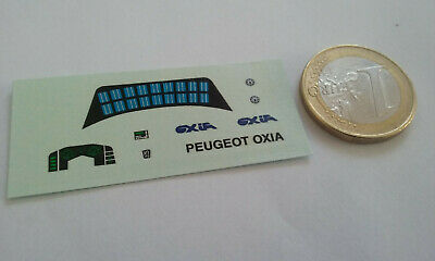 decals decalcomanie deco pour peugeot oxia  1/43